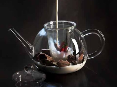 Chocolate Tea Pour